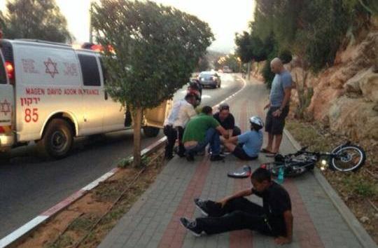 אופניים חשמליות אחרי תאונת דרכים